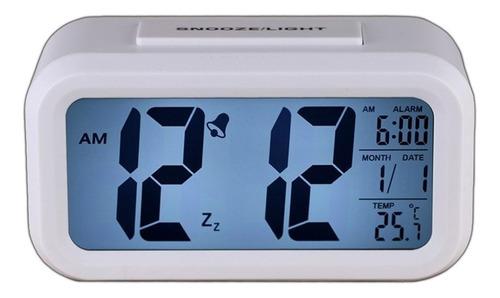 reloj despertador  luz snooze light temperatura calendario