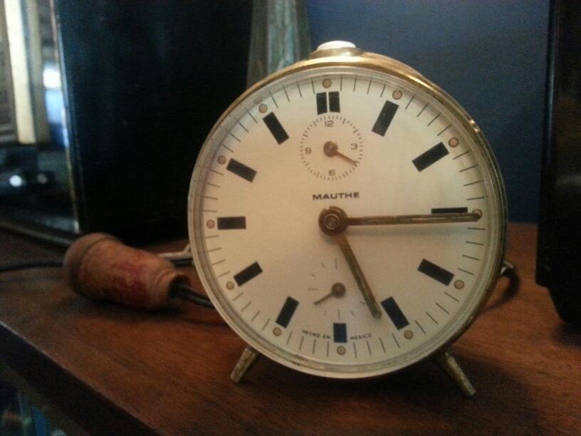 Reloj AntiguoFunciona Mauthe Despertador Despertador Reloj PuZOkiX