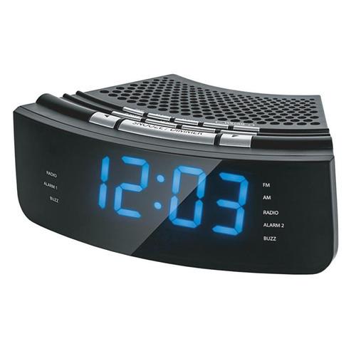 reloj despertador noblex rj 950 negro luz led azul