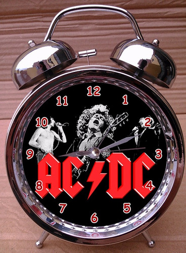 reloj despertador the cure - rolling stones metallica acdc