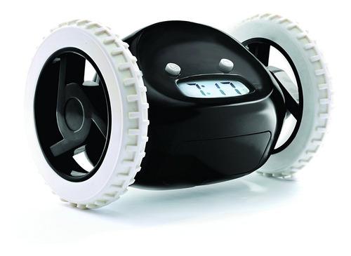 reloj despertardor anti sueño dormido clocky ruedas alarma
