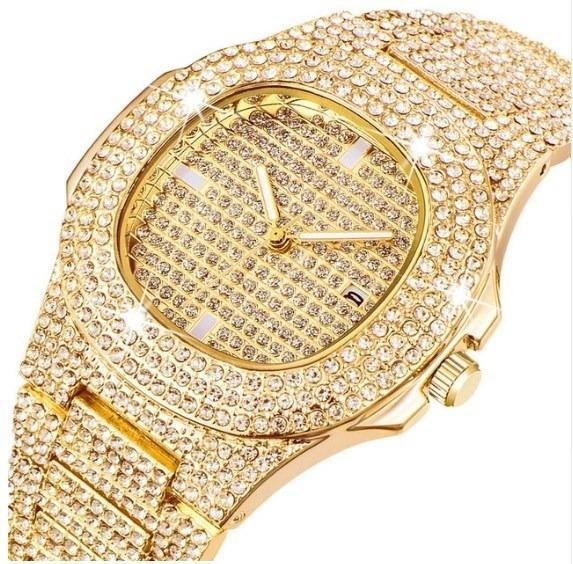 d1e75da19 Reloj Diamantado Acero Inoxidable Hombre Moda Diamantes - $ 599.00 ...
