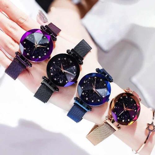 reloj diamante iman vintage nuevo