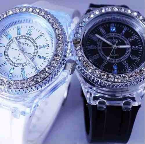 Reloj Diamond Luz Led Digital Deluxe 148 98 En Mercado