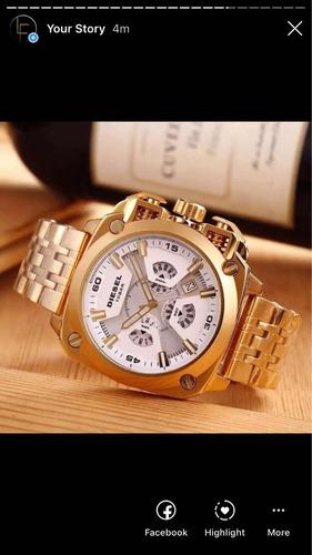 reloj diesel bamf blanco