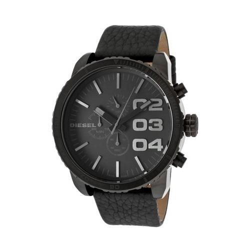 7f02ad8cce9d Reloj Diesel Double Down Dz4216 Hombre Cuero Negro 51mm -   4.999