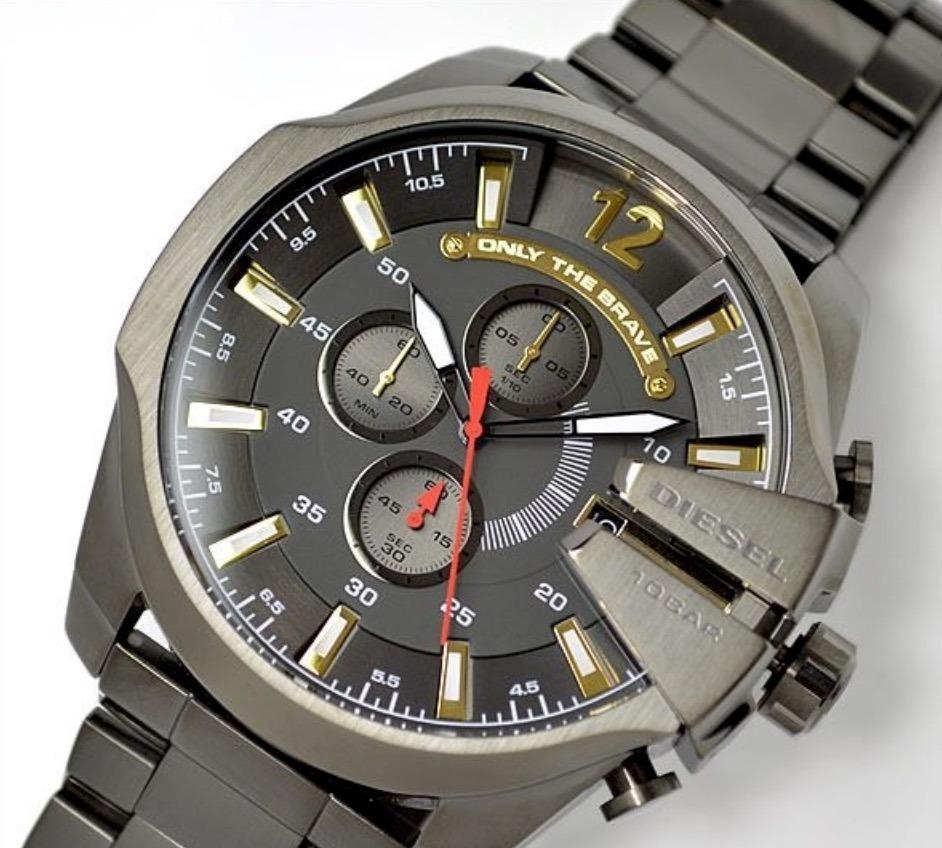7120bf02f0cb Reloj Diesel Dz-4421 Mega Chief Gris -   259.990 en Mercado Libre