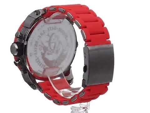 3378f6b5216 Reloj Diesel Dz-7279 Rojo Mr. Daddy 4 Horarios El Original ...