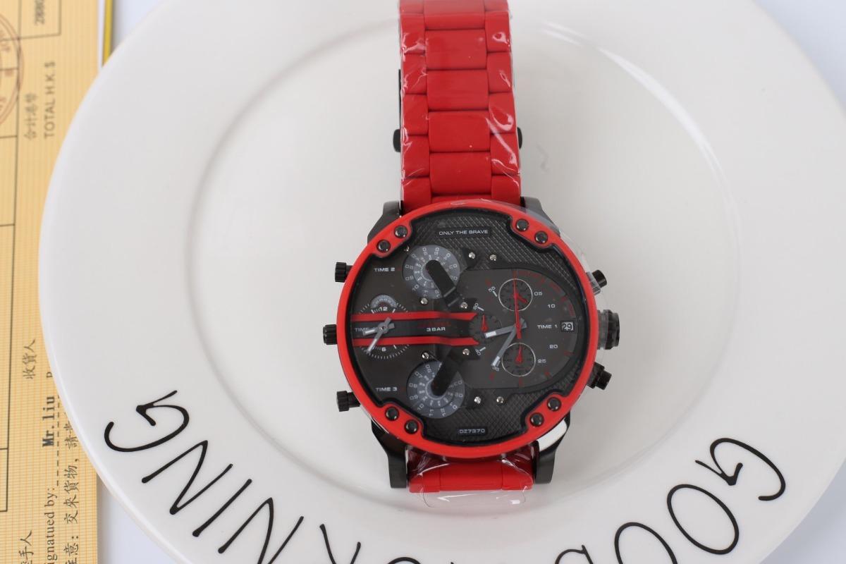 93b2240d0106 reloj diesel dz 7370 mr. daddy 2.0 gunmetal red chronograph. Cargando zoom.