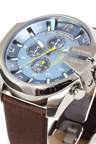 reloj diesel dz4281 acero cuero fecha cronometro de ocasion