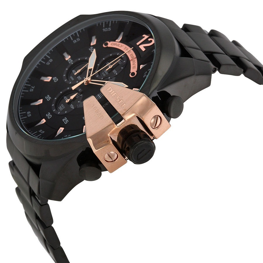 e53d366c4848 reloj diesel dz4309 caballero negro con cobre. Cargando zoom.