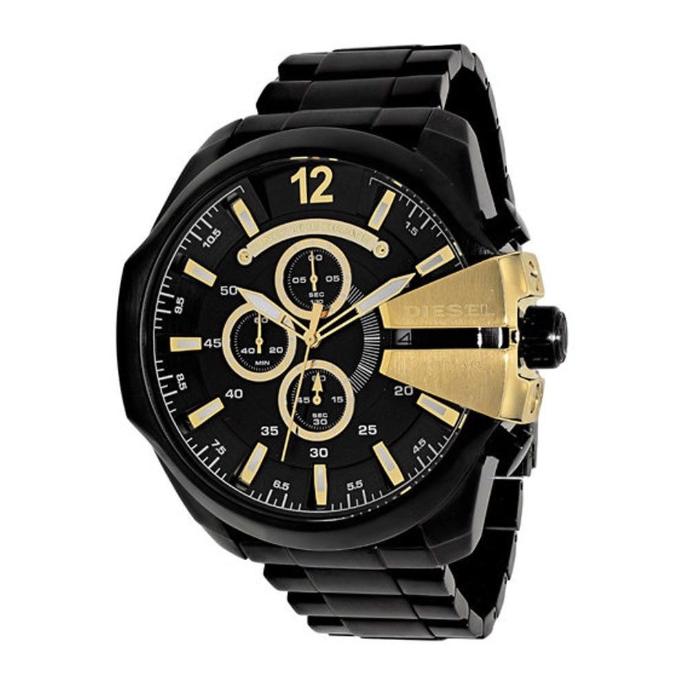 762d6cae12b8 Reloj Diesel Dz4338 Mega Chief Chrono. Black. A Pedido Usa -   9.990 ...