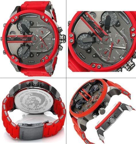 25172adc7af1 Reloj Diesel Dz7370 Mr Daddy 2.0 Gunmetal Dial Red Silicone - U S ...