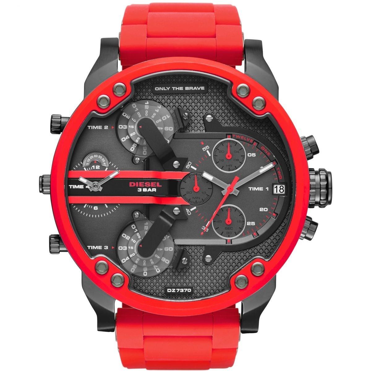 f1654e9cfd9a reloj diesel dz7370 mr daddy metal color rojo envío gratis. Cargando zoom.