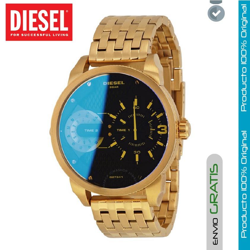 cf093dbe3497 reloj diesel hombre dz7341 dual time acero inoxidable dorado. Cargando zoom.