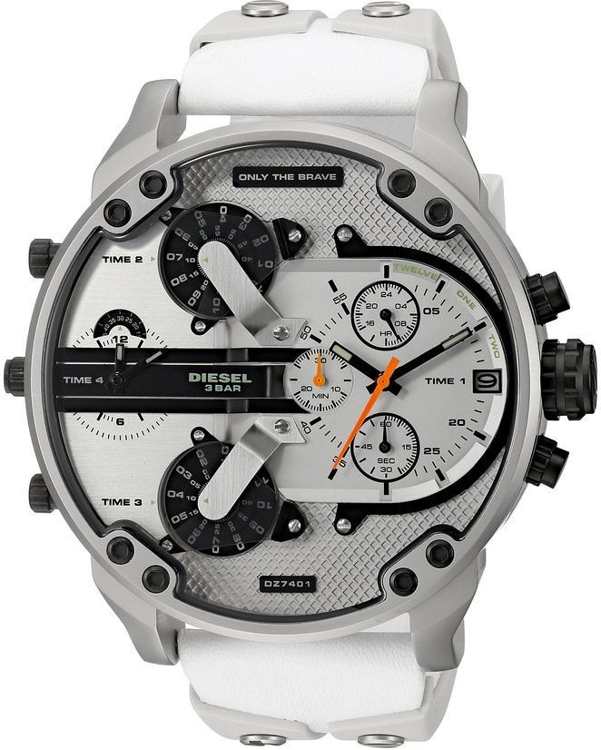 568a16838ad6 reloj diesel hombre dz7401 nuevo mr daddy2.0cuero y blanco. Cargando zoom.