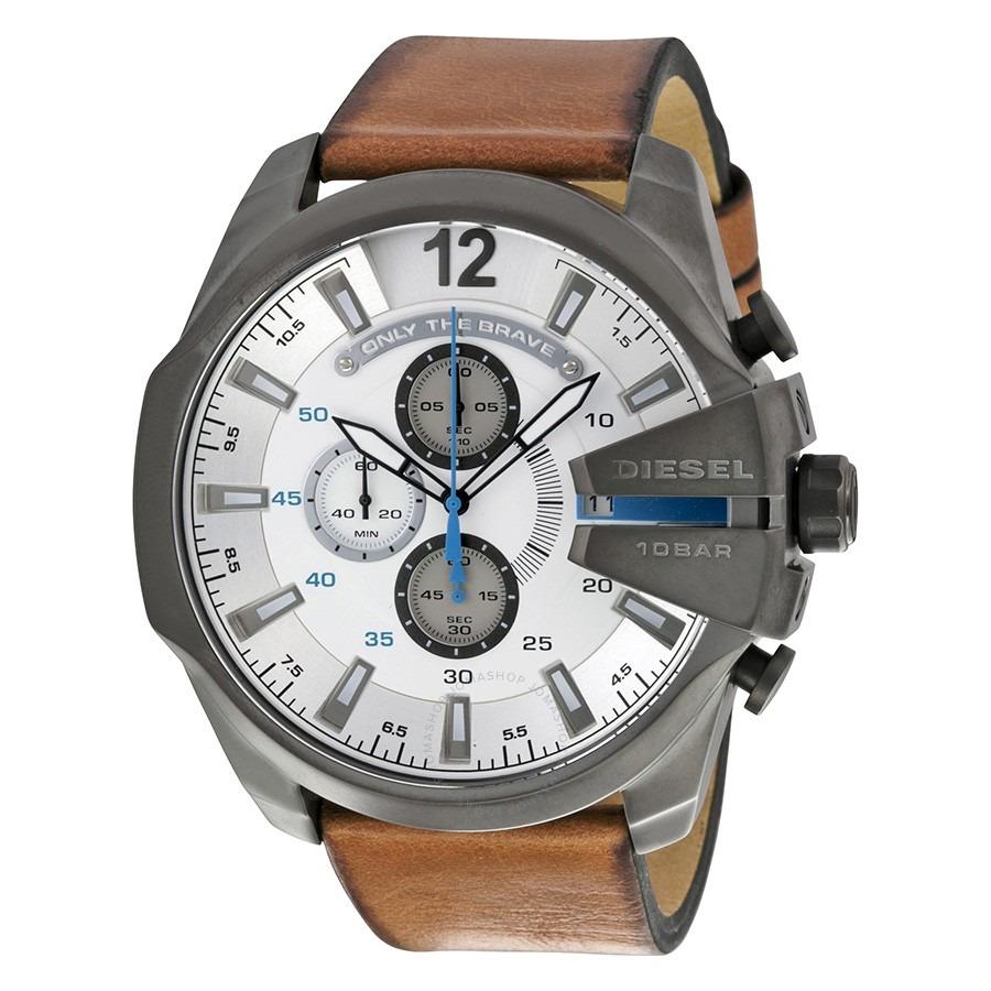 14d0ec80408d reloj diesel mega chief dz4280-plateado con marrón. Cargando zoom.