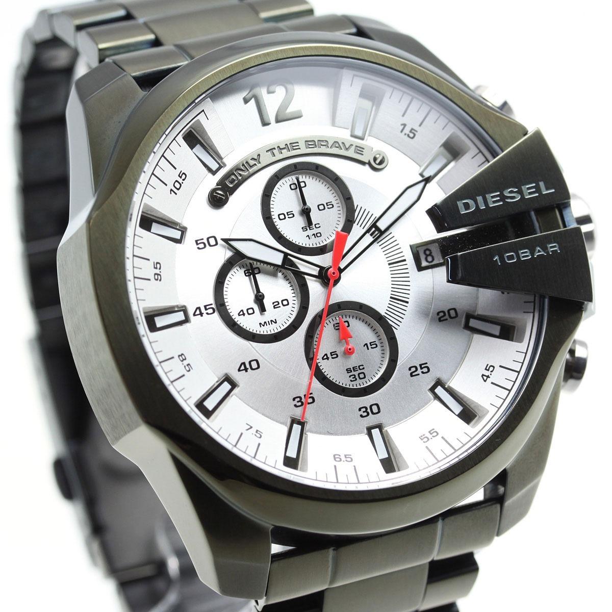 253a9ef4088e reloj diesel mega chief dz4478 hombre oliva iones plateados. Cargando zoom.