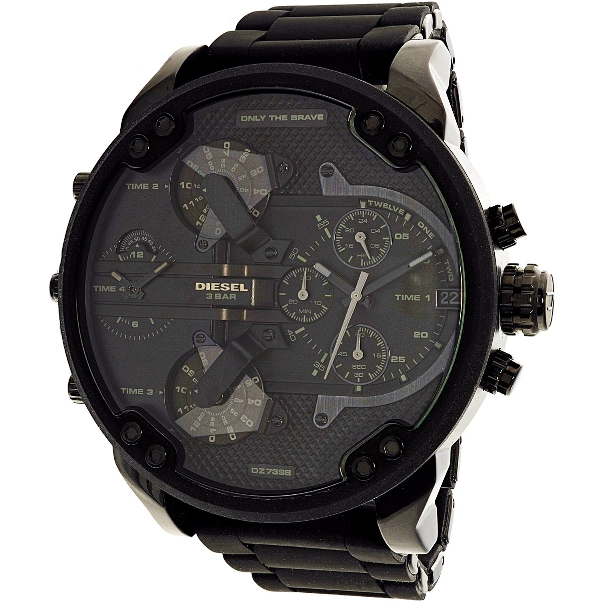 5aff4304da5a reloj diesel para hombre dz7396 mr. daddy negro en acero. Cargando zoom.