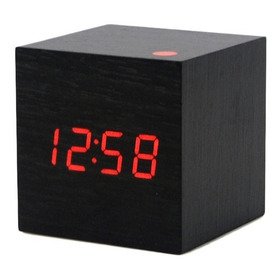 Reloj Digital 6cm Estilo Madera Alarma Despertador Fecha