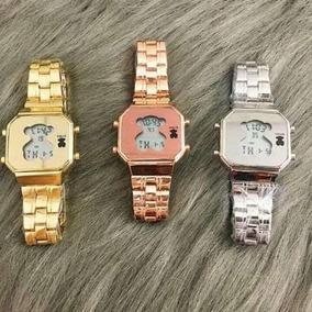 3 En Touz Reloj Plata Acero Digital Colores Oro Dorado Rosa OXwkiZPuT
