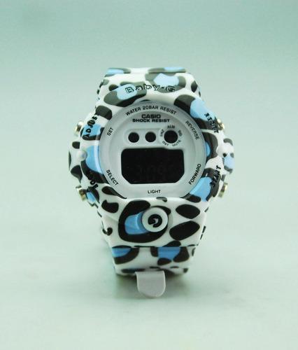 reloj digital baby g casio resiste agua dama caballero
