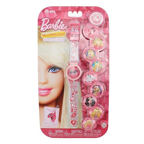 reloj digital caratulas intercambiables barbie
