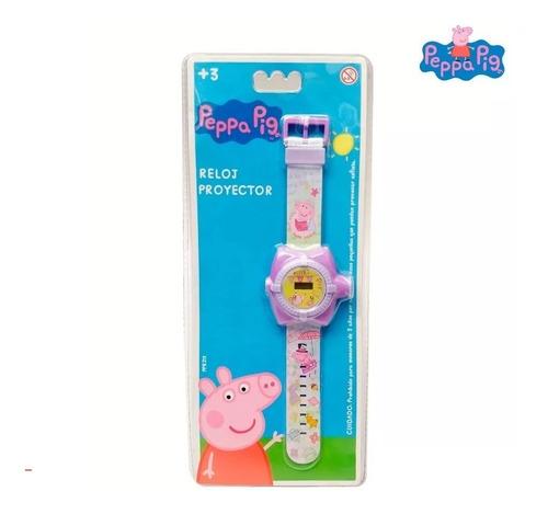reloj digital con proyector de 20 imagenes niñas peppa pig