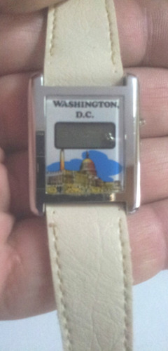 reloj digital dama washington motivo casa blanca white house