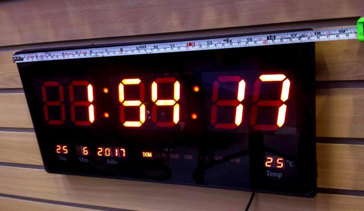 Reloj digital de pared de led grande term metro de 46 cm - Relojes grandes de pared vintage ...