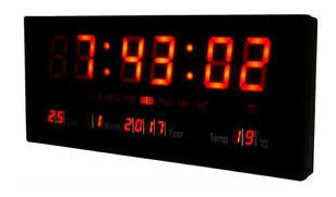 reloj digital de pared mural led calendario alarma