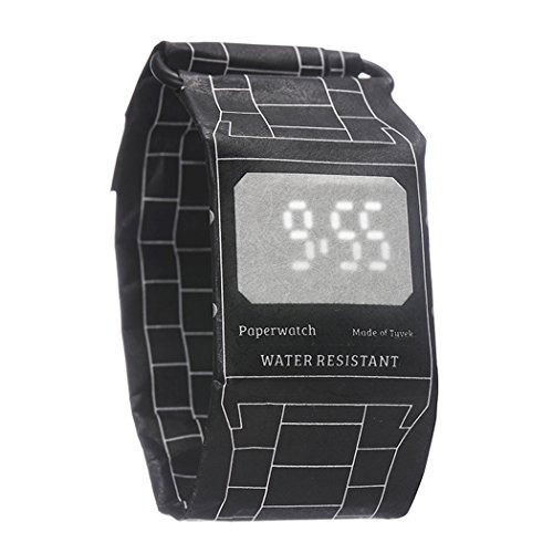 reloj digital de pulsera de papel cajiso first casual reloje
