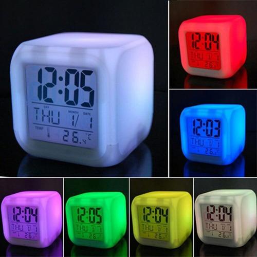 reloj digital decorativo multicolor para oficina y casa