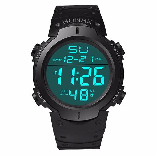 reloj digital deportivo marca honhx alarma luz fecha crono.