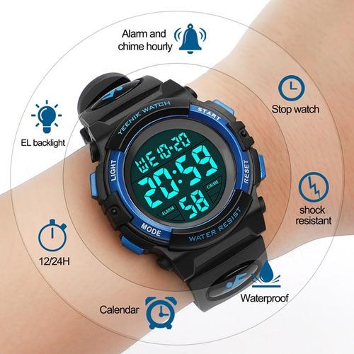 f4323b34eb1e Reloj Digital Deportivo Para Hombre Reloj Militar Led Imp - S  137 ...