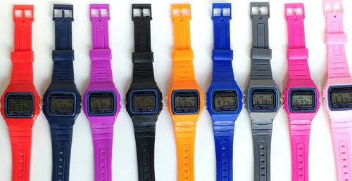 reloj digital diseño vintage colors regalo cronom fecha dia
