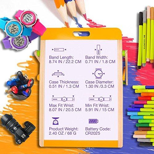 reloj digital impermeable para niños para niños niñas dep