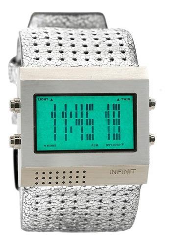 reloj digital infinit roby - silver.wh