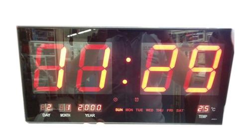 reloj digital led de pared - rojo - envio gratis