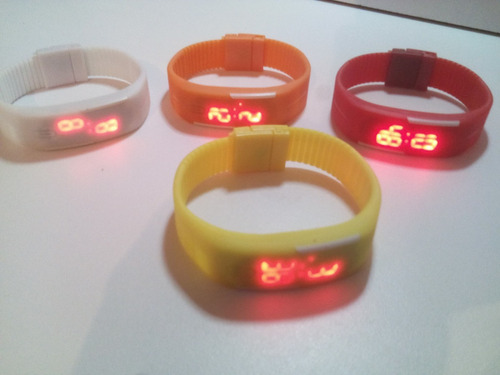 reloj digital led slim touch