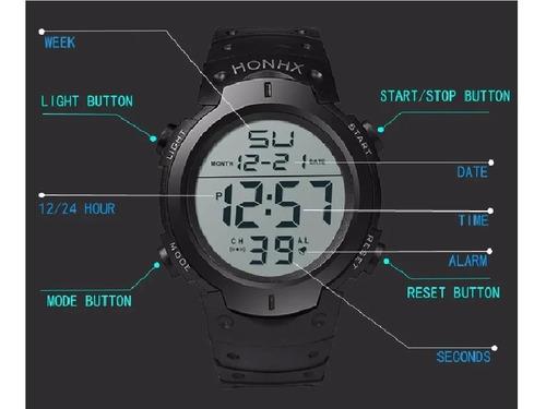 reloj digital luz
