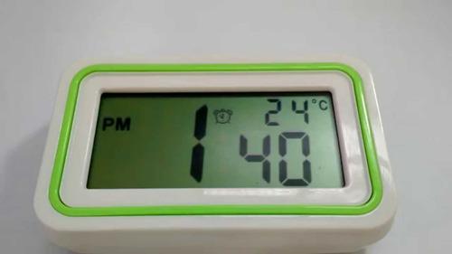reloj digital luz led despertador termómetro lcd colores