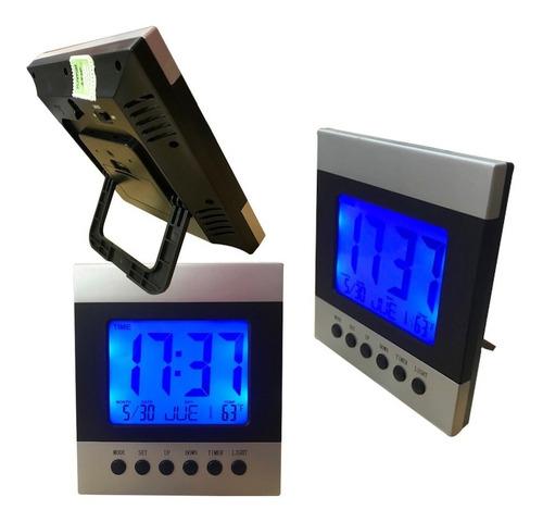 reloj digital mesa y pared con luz,calendario y temperatura.