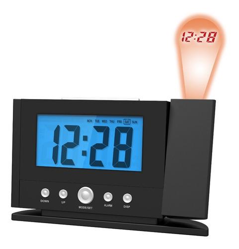 reloj digital proyector hora temperatura 2 alarmas luft 500n
