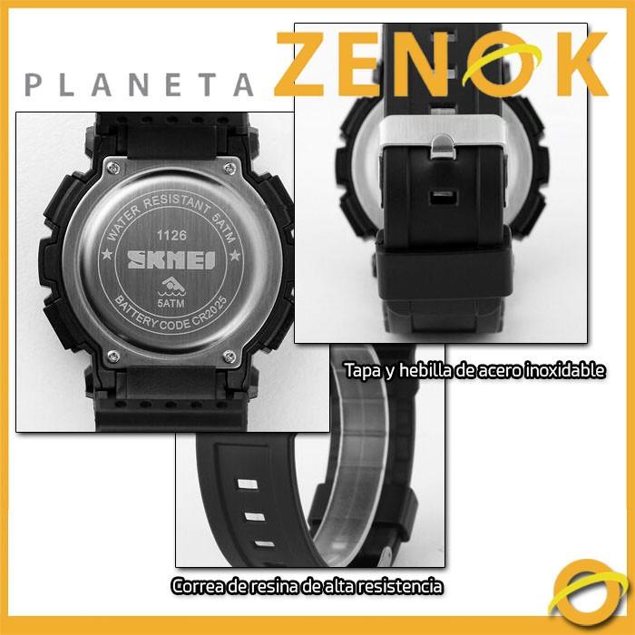 1e9c871316b7 Reloj Digital Skmei Solar Sumergible Alarma Crono Luz Dg1126 -   849 ...