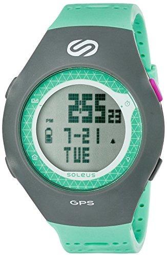 reloj digital soleus sg010-345 gps turbo unisex, gris