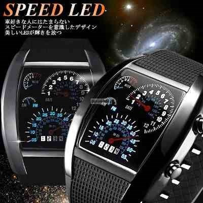 reloj digital sport 44 led tablero velocimetro turbo