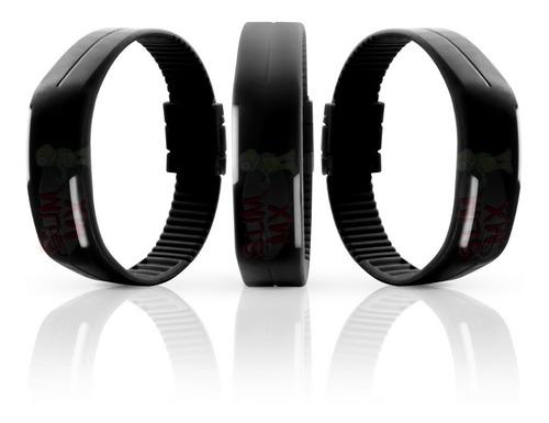 reloj digital unisex correa recortable ajustable un boton