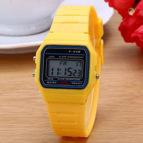 reloj digital unisex retro vintage casual 4 colores mayoreo