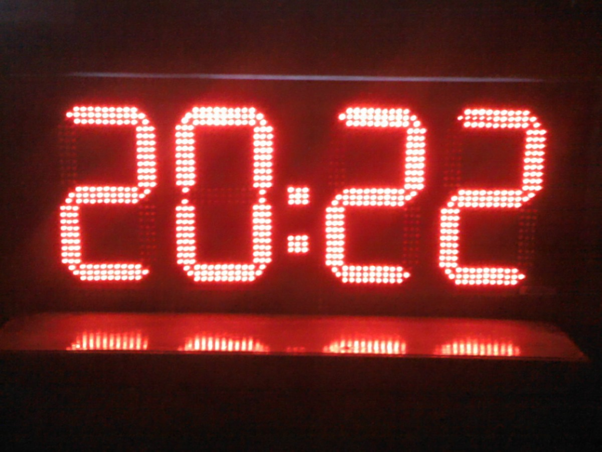 Reloj Digitales Led Cronometro Gigante 95cmx40cm 18